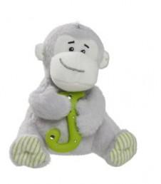 Elliot Friend Morris the Monkey Holding the Letter J