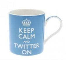 Keep Calm and Twitter On Mug