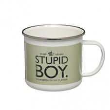 Stupid Boy Enamel Mug - Dads Army