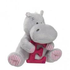 Elliot Friend Hetty the Hippo Holding the Letter E