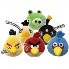 ANGRY BIRDS - 4 INCH MINI PLUSH WITH SOUND