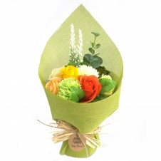 Standing Soap Flower Bouquet - Green Yellow
