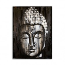 Wood Buddha Silver - Painting