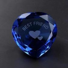 Best Friend Blue Crystal Heart