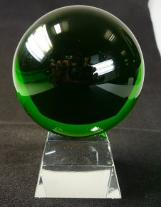 80mm Green Crystal Ball On Stand