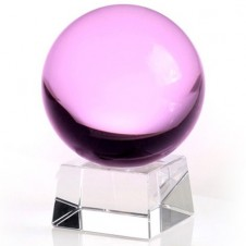 60mm Pink Crystal Ball On Stand