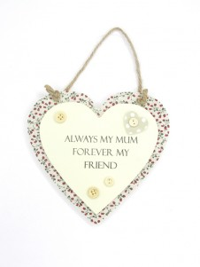 Sentiments Heart Hanging Plaques Mum and Friend