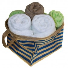 Set of 3 Big Jute Stripy Basket