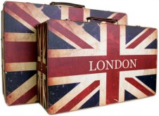 Nostalgic Suitcases and Boxes London Set of 2