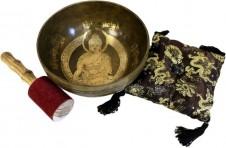 Brass Golden Buddha - Special Singing Bowl Set