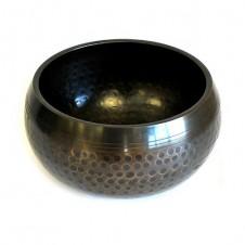 Medium Black Beaten Bowl - 14cm
