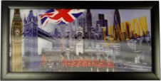 London and Flag Framed HD 3D Iconic Prints