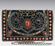 Stunning Velvet Bead Encrusted Evening Bag