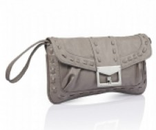Whipstitch detail clutch bag