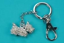 Diamante Pup Keyring