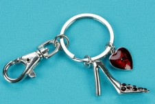 Heart and Shoe Keyring
