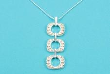 Sparkling Silver-Diamante Pendant