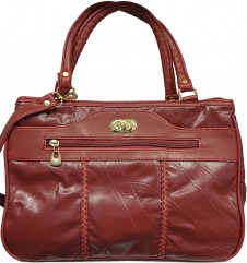 Leather tote handbag in 3 colours