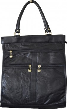 Leather tote handbag  Black