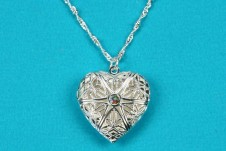 Beautiful Silver Heart Locket