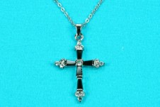 Beautiful Cross with Cubic Zirconia