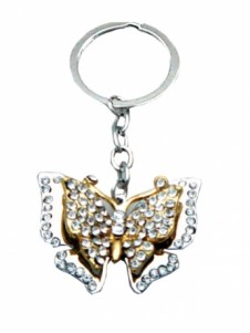 Diamante Keyrings - Butterfly