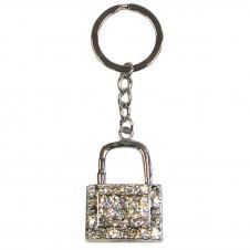 Diamante  Padlock Keyring