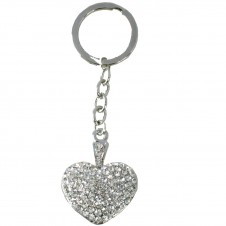 Diamante Keyrings - Heart