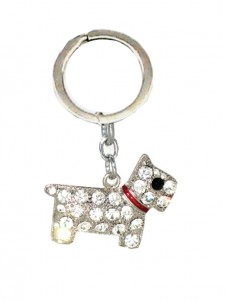Diamante Dog  Keyring