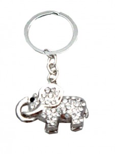 Elephant  Diamante Keyring