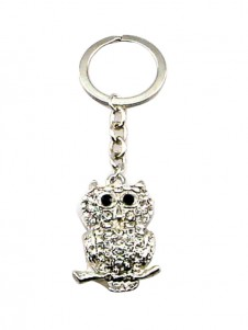 Diamante Keyrings - Owl