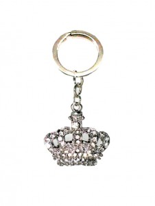Diamante  Crown Keyring