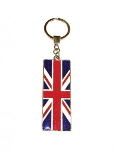 Great Britain Union Jack Flag Keyring