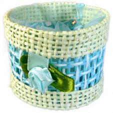 Favours - Round Basket - Blue