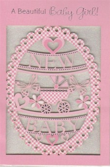 Birth of Baby Girl Elegance Card