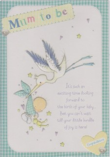 Mum To Be Large Cute Cards