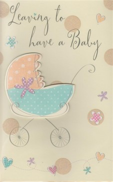 Leaving to have a Baby Large Card