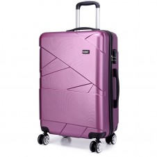 Kono Bandage Effect Hard Shell Suitcase 24 inch  PURPLE