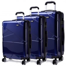 Kono Hardshell Suitcase 4 Wheeled Spinner Luggage Sets of 3
