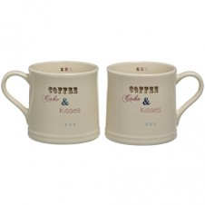 Coffee and Kisses Mugs