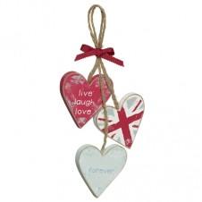 Three Hearts Plaque