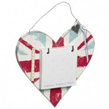 Union Jack Heart With Pencil And Notepad