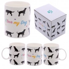 Fun New Bone China Mug - I love My Dog
