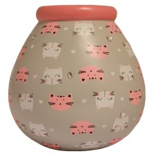 Cat Pattern Pot of Dreams
