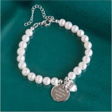 Freshwater Pearl Pendant Bracelet