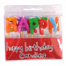 Happy Birthday Candles Letter Candles