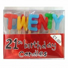 CANDLES - 21 COCKTAIL STICKs