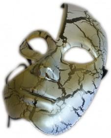 Half-Face Cracked Mask - 2 Pack