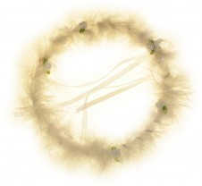 Party Hair Bands - White Halo 2Pk