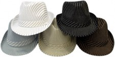 Gents Striped Hats - Assorted 2 Pk